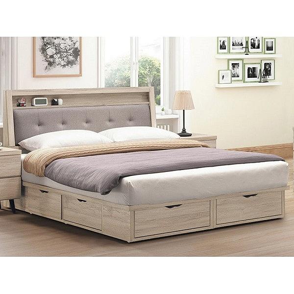 床架 BT-23-1A 寶雅橡木色5尺雙人床 (床頭+床底)(不含床墊) 【大眾家居舘】