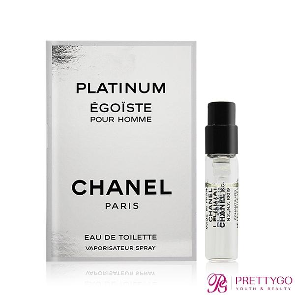 CHANEL 香奈兒 PLATINUM EGOISTE 男性淡香水(1.5ml) EDT-隨身針管試香【美麗購】