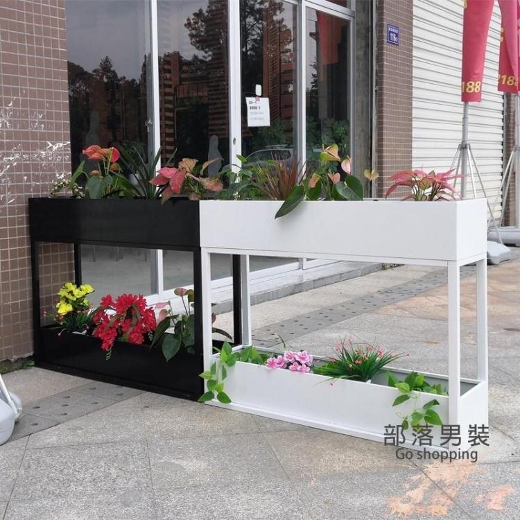 隔斷花架 定製室外鐵藝花架子陽台 蔬菜種植箱金屬隔斷花槽庭院雙層戶外花箱T 家家百貨