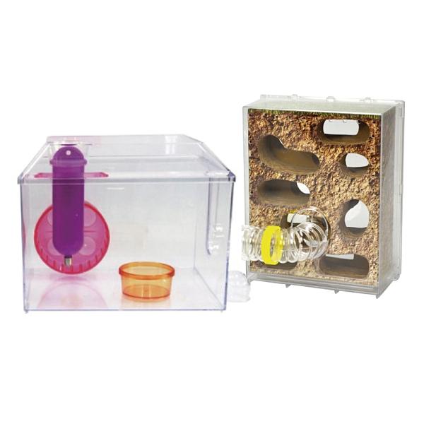 寵物家族-麗利寶 透視明鏡屋 鼠籠 觀察箱
