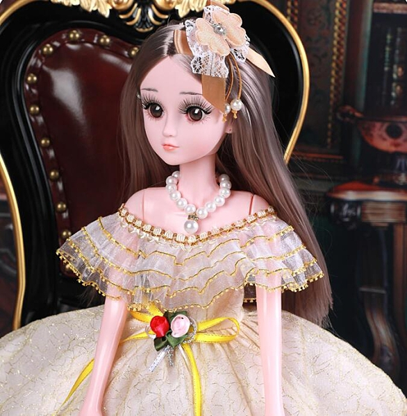 芭比娃娃 眨眼60厘米尚美比芭比大號超大洋娃娃套裝女孩公主單個玩具TW【快速出貨八折下殺】