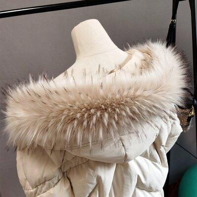 仿真狐狸毛領單賣毛貉子毛毛領子羽絨服帽條假領通用大衣漢服女冬『S54』