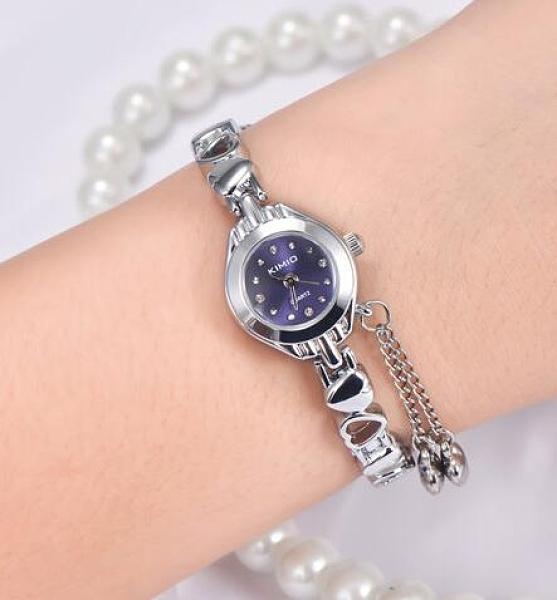 手表學生韓版時尚時裝手鏈表鋼帶女表潮流防水小表盤機械石英表 極簡雜貨