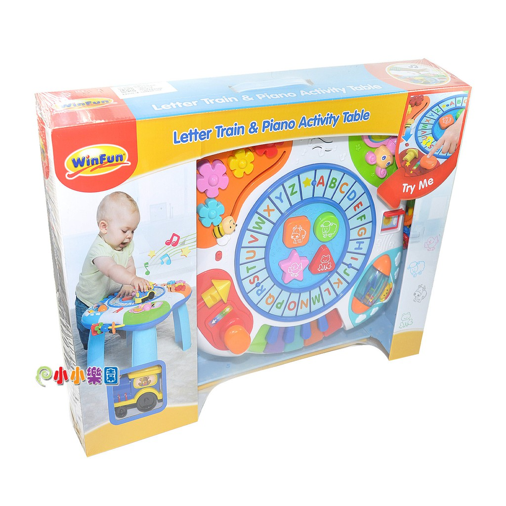 WinFun 多功能音樂字母學習桌0801,歐盟EN71/台灣BSMI 國際玩具安全檢驗,新品上市1180元