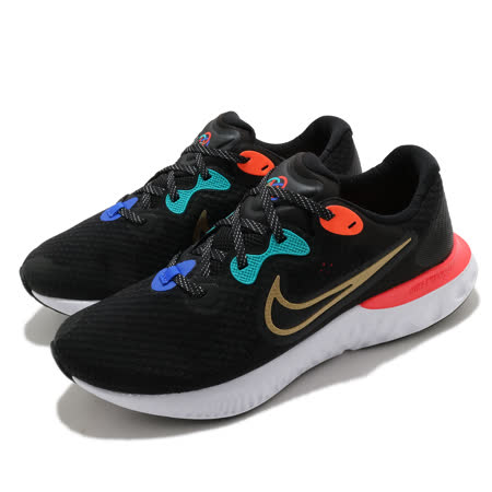 Nike 慢跑鞋 Renew Run 2 運動 男鞋 輕量 透氣 舒適 避震 路跑 健身 黑 金 DJ0033061 DJ0033-061