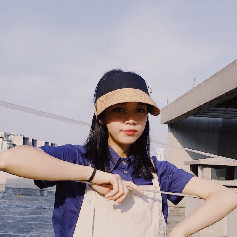 無頂遮陽帽子女夏天韓版百搭遮臉防紫外線太陽帽出游防曬空頂草帽1入