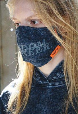 SUBTLE最新丹寧口罩RAWMAD(C) Denim Face Mask時尚有型,騎車 秋冬防疫 口罩套