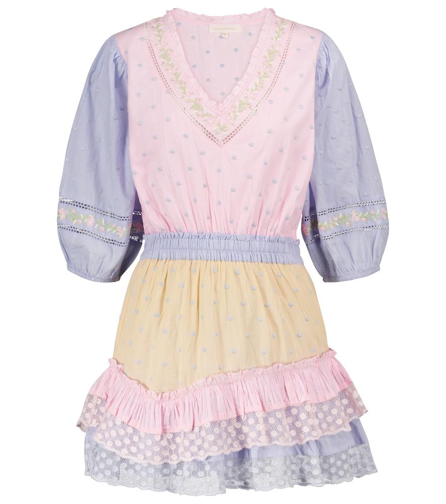 Adley polka-dot cotton minidress