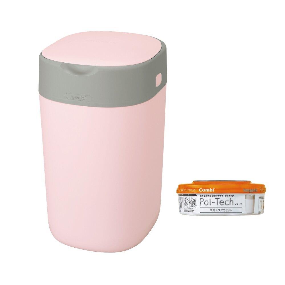 日本 Combi Poi-Tech Advance 尿布處理器(玫瑰粉)