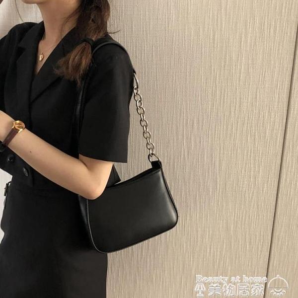 側背包 小包包女小眾設計2021新款潮小ck時尚鍊條ins側背斜背包女腋下包 美物