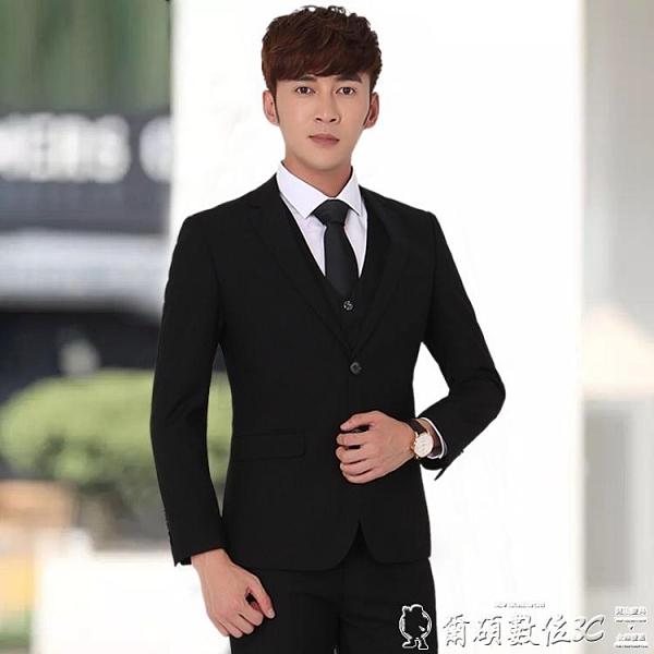 西裝外套 男士西服套裝三件套青少年韓版新郎結婚正裝單西外套修身小西裝男 爾碩