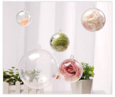 ☆芊宸小舖☆現貨 4cm 透明球 壓克力球 永生花裝飾球 透明壓克力球 透明圓球 空心圓球 空心球 聖誕節