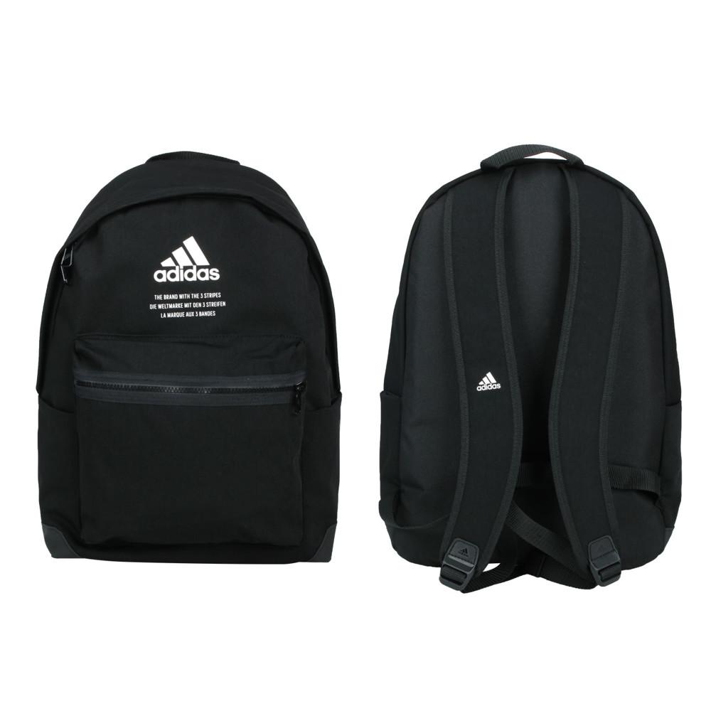 adidas 後背包-雙肩包 肩背包 旅行包 27.5l 愛迪達 黑白