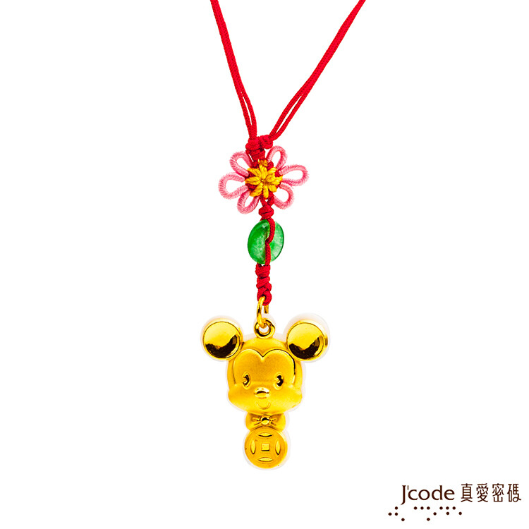 j'code真愛密碼金飾   富貴米奇黃金彌月木盒-0.30錢