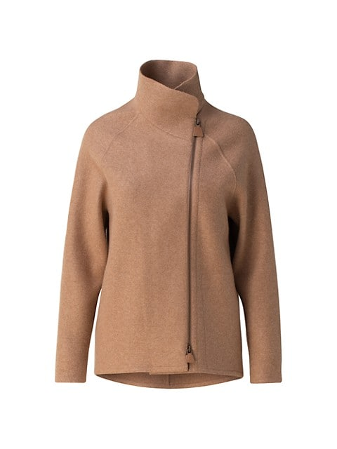 Ray Cashmere Stand Collar Jacket