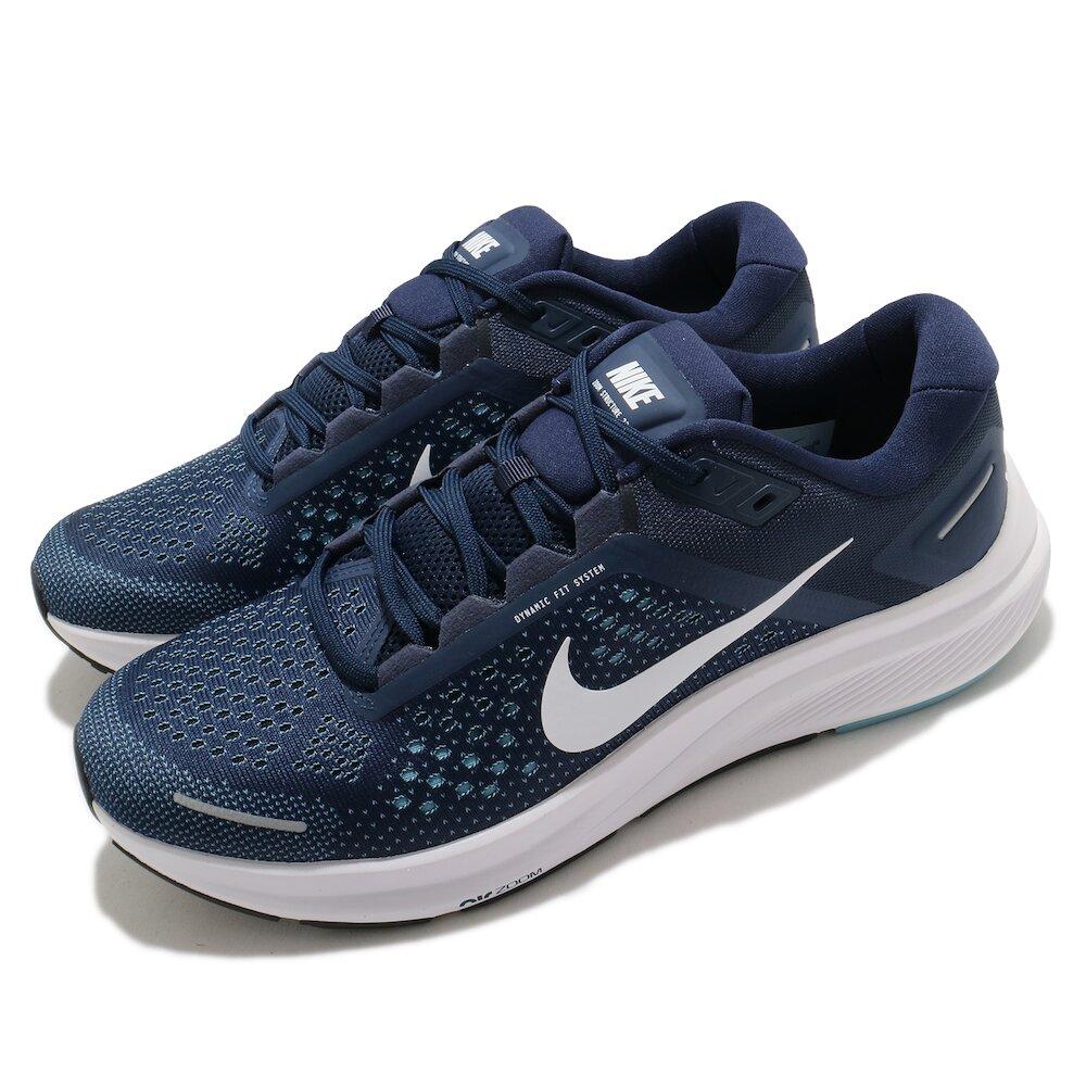 NIKE 慢跑鞋 Zoom Structure 23 男鞋 氣墊 舒適 避震 路跑 健身 球鞋 藍 白 [CZ6720-402]
