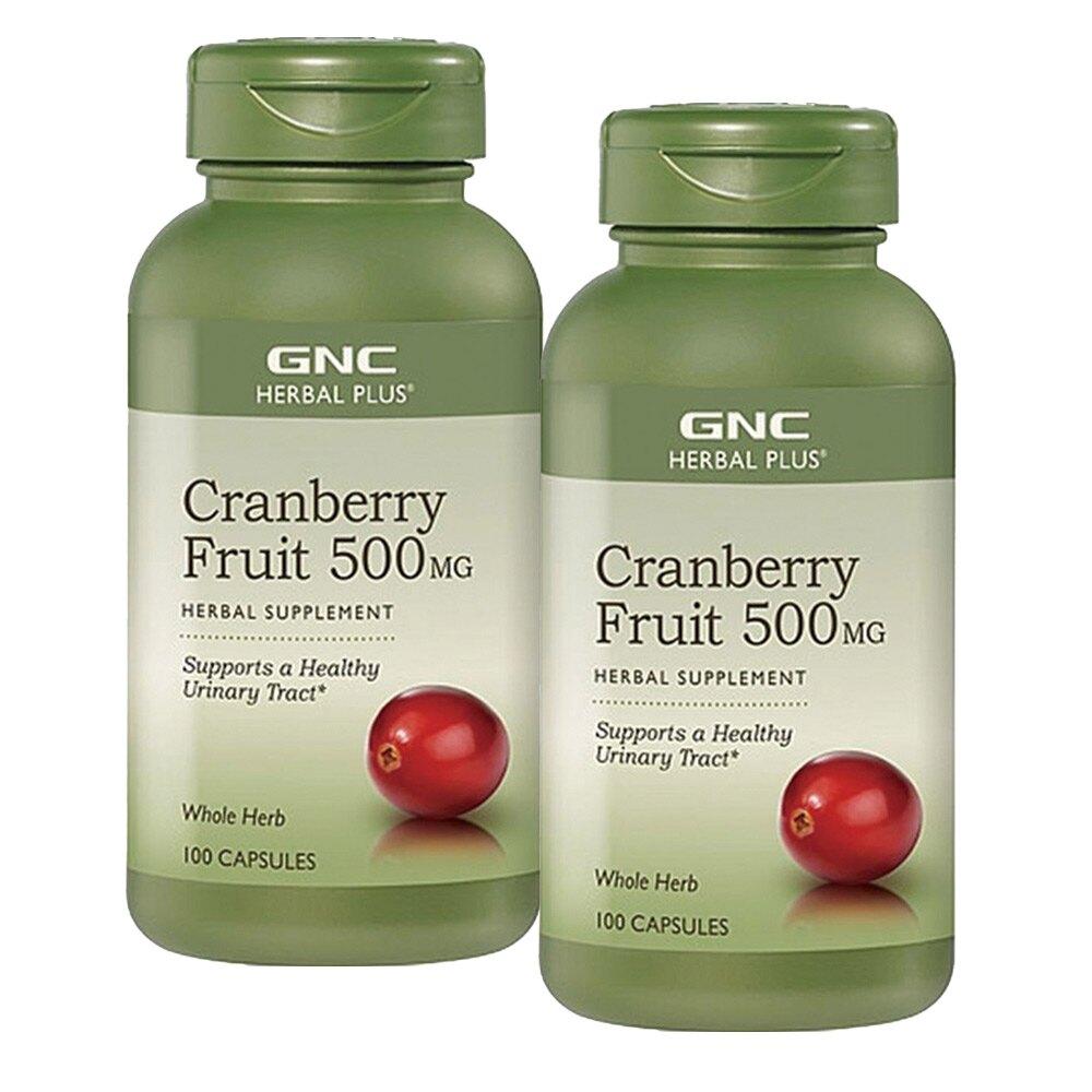 【GNC健安喜】2入限定   蔓越莓膠囊食品 100顆(強化鈣、鐵、維他命B群)