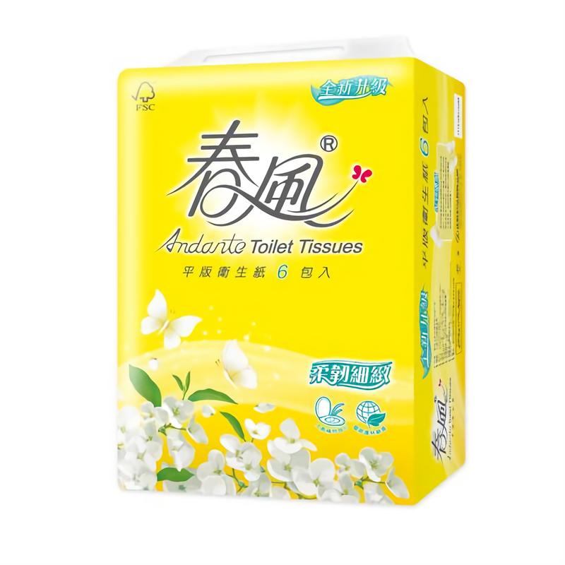 春風平版衛生紙(300抽/6包/6串/箱)