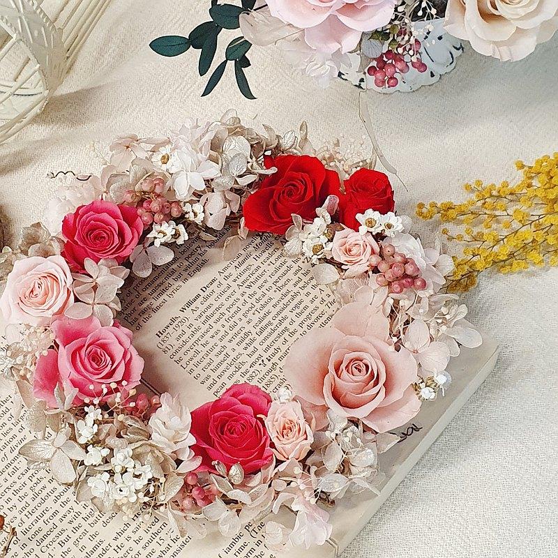 浪漫永生玫瑰花圈