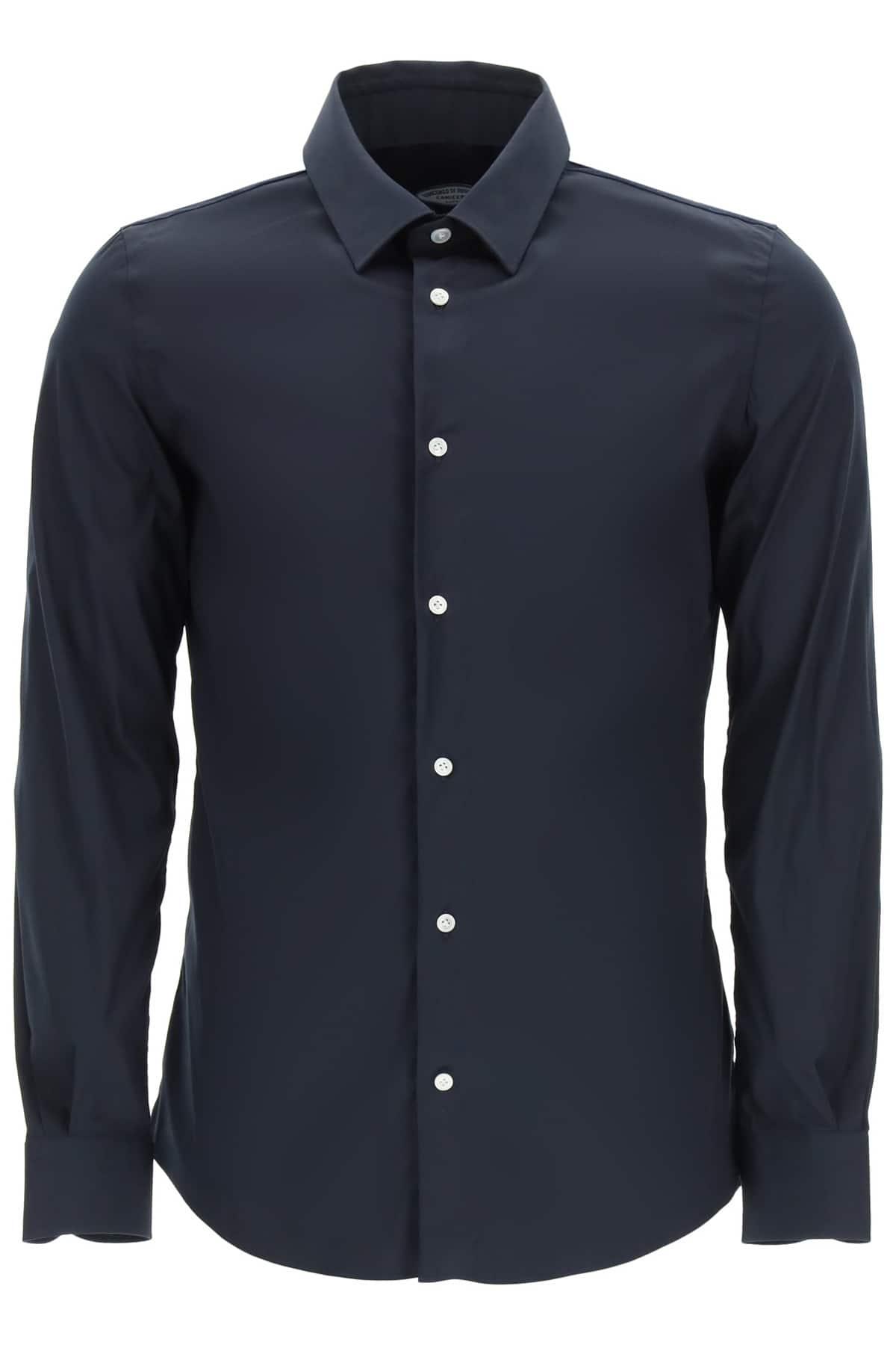 VINCENZO DI RUGGIERO CLASSIC TAILORED SHIRT 38 Blue Cotton