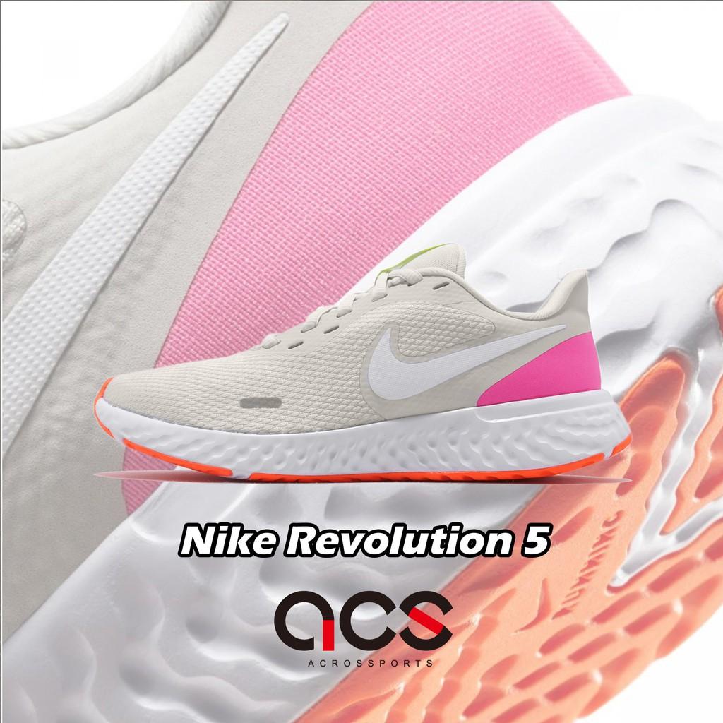 Nike 慢跑鞋 Wmns Revolution 5 灰 白 女鞋 運動鞋 BQ3207-007 【ACS】