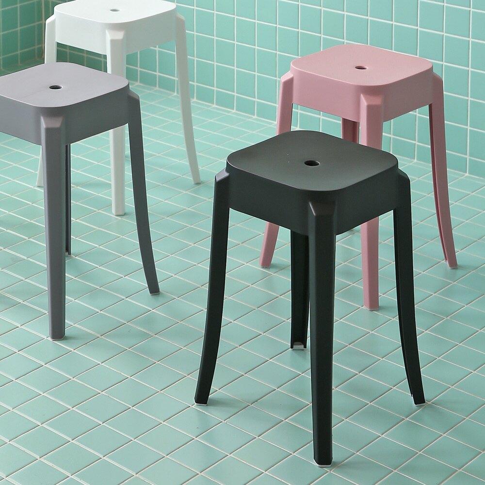 餐椅/椅凳/萬用椅 Coral繽紛方形椅凳2入 完美主義rt 【F0115】