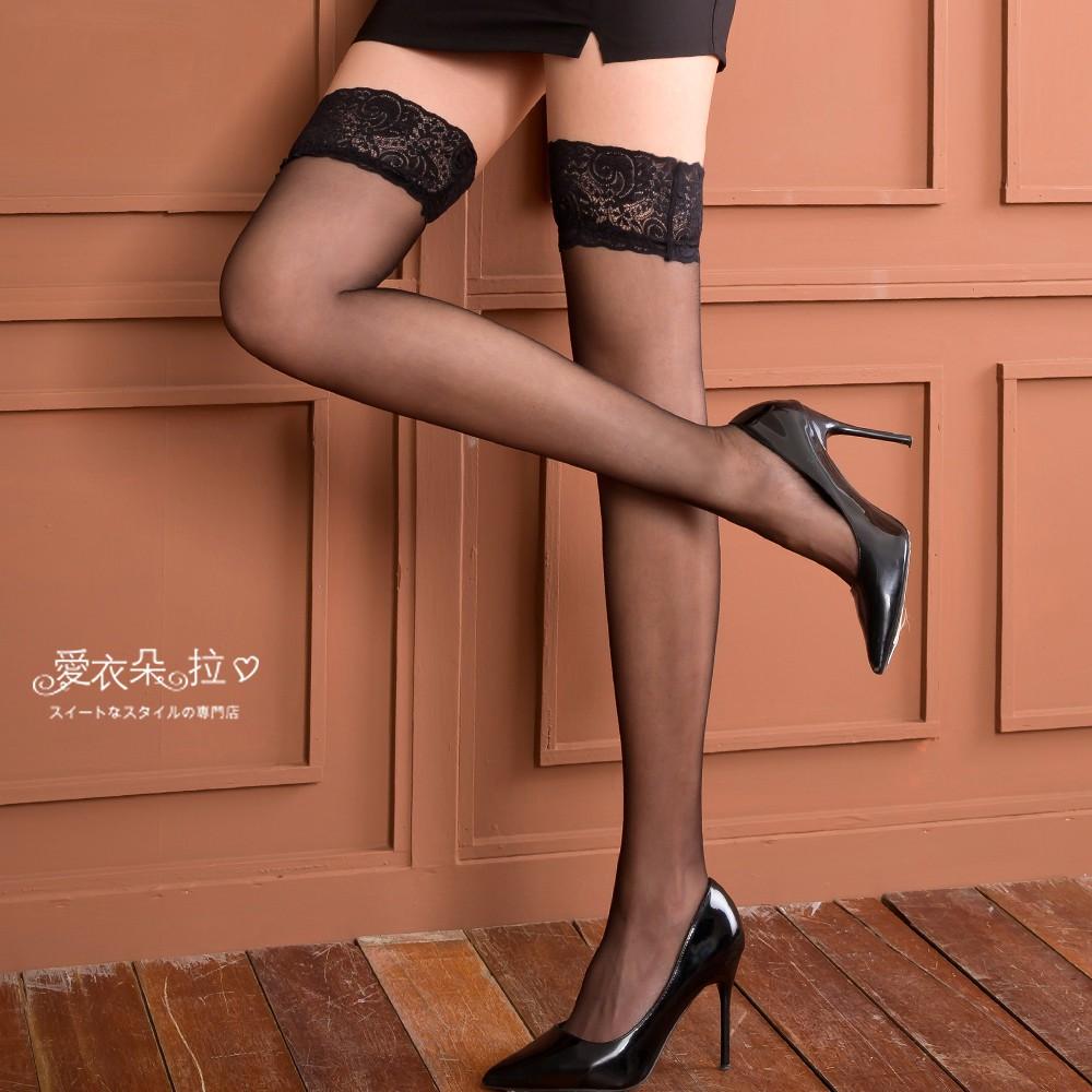 黑絲襪 超薄透膚 雙圈防滑膠大腿襪 台灣現貨