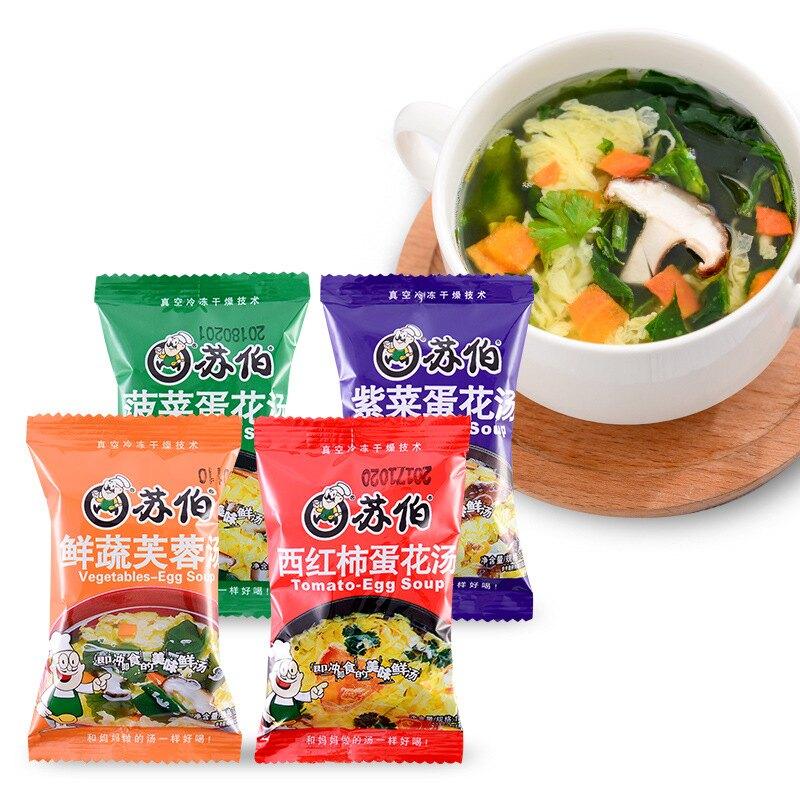蘇伯即食湯包 八味養生鋪 即時湯包 紫菜蛋花湯 速食湯 營養湯包 蛋花湯 方便湯 速食湯包 沖泡湯 即食湯品