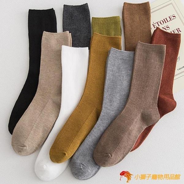 堆堆襪子女中筒秋冬純棉長筒日系長襪高筒【小獅子】