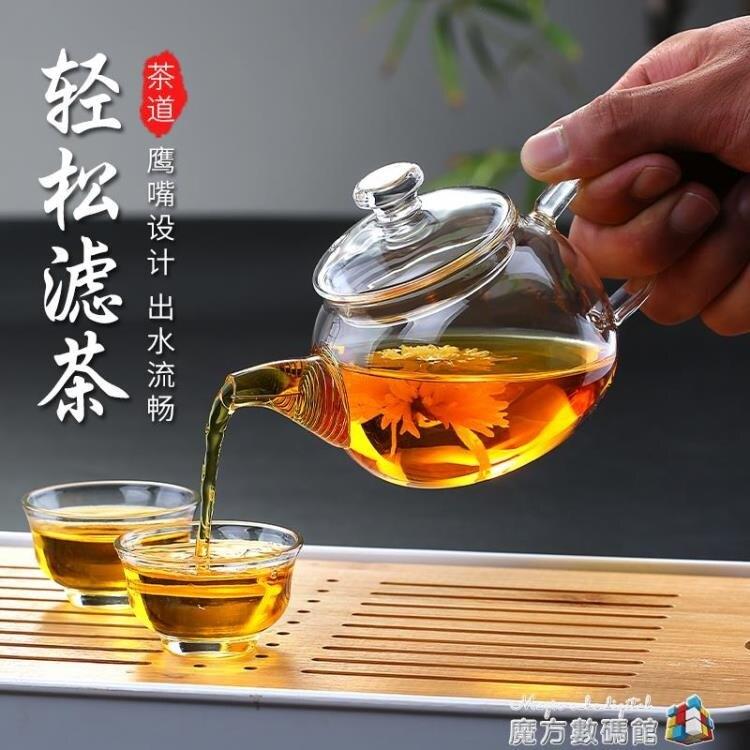 玻璃小茶壺小號單人耐高溫煮泡茶壺帶過濾簡約功夫茶單壺茶具 Fashion家居館