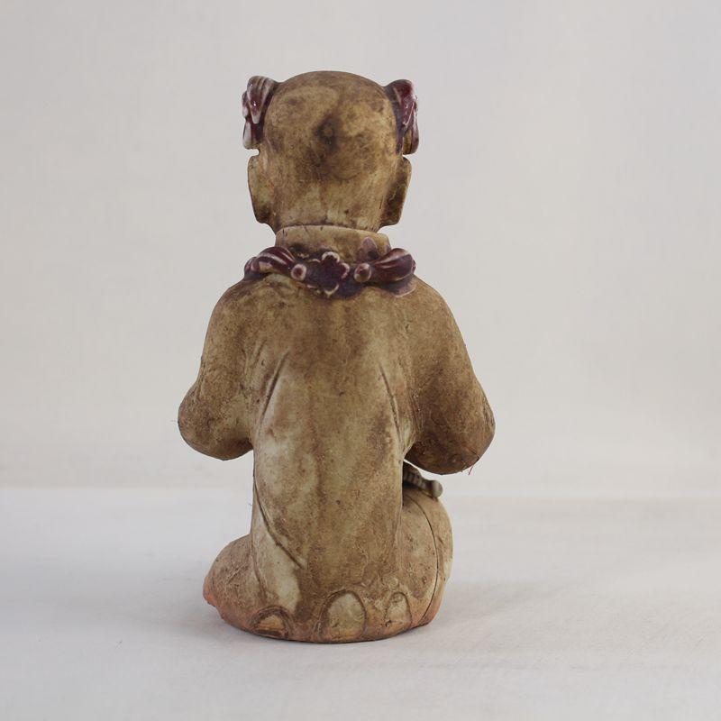 景德鎮仿古瓷器  全手工捏雕歡天喜地童子 古玩古董收藏吉祥物1入