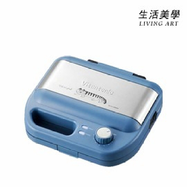 Vitantonio【VWH-500-LS】小V鬆餅機 可定時 自動斷電 適用系列烤盤 限定藍 VWH-50B VWH-500B VWH-500LS