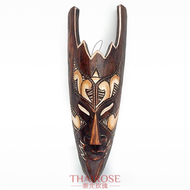 泰國面具壁掛 美容會館酒吧過道大堂形象墻裝飾品東南亞風格墻飾1入