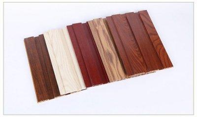 天花吊頂綠可木墻覆膜長城板生態木護墻板裙木塑板裝飾材料