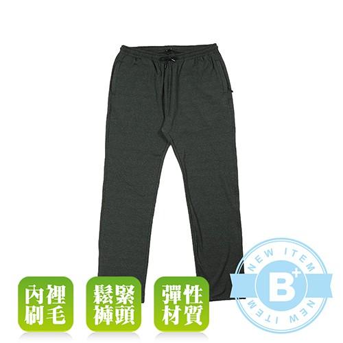 大尺碼-MAXON-男款特大 刷毛運動褲-黑-86638