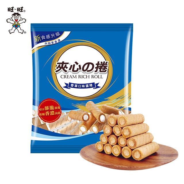【旺旺】夾心捲-香草口味蛋捲 185g