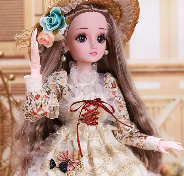 芭比娃娃 大型60厘米怡甜芭比洋娃娃套裝仿真精致女孩超大玩具公主單個TW【快速出貨八折下殺】