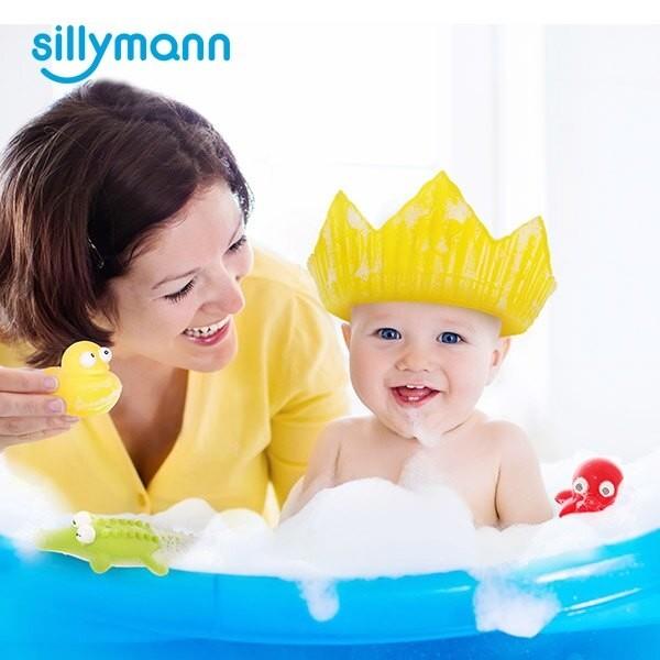【品牌滿$799限量送六層紗口水巾1條】韓國 sillymann 100%鉑金矽膠皇冠幼兒洗髮帽-3色