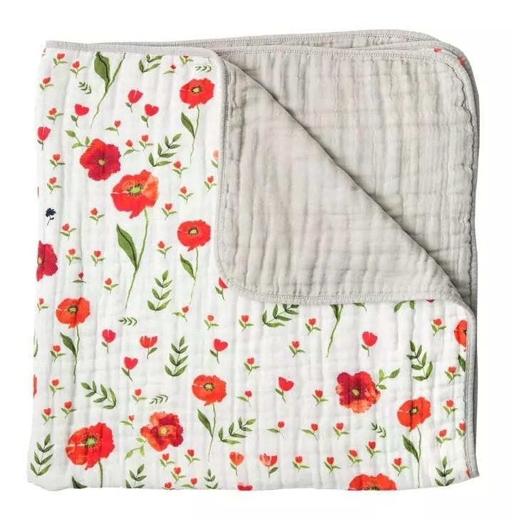 美國 Little Unicorn 有機棉四層紗布毯 (120cmX120cm) /共兩款