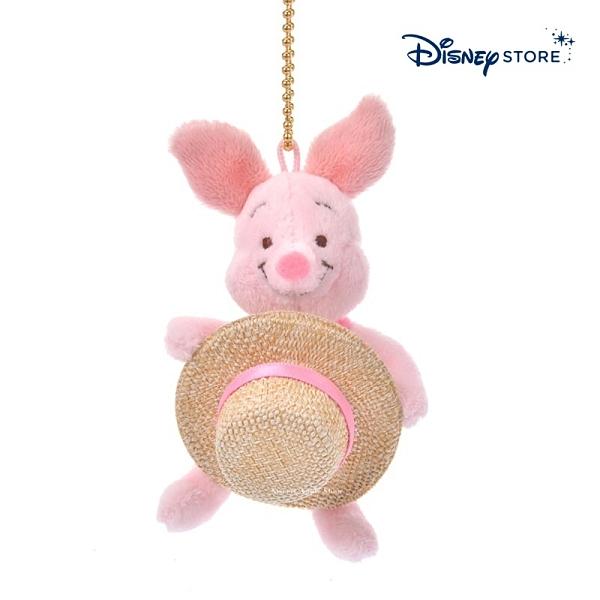 【SAS】日本限定 迪士尼商店 Disney Store 小熊維尼家族 粉紅小豬 草帽版 珠鍊吊飾玩偶娃娃