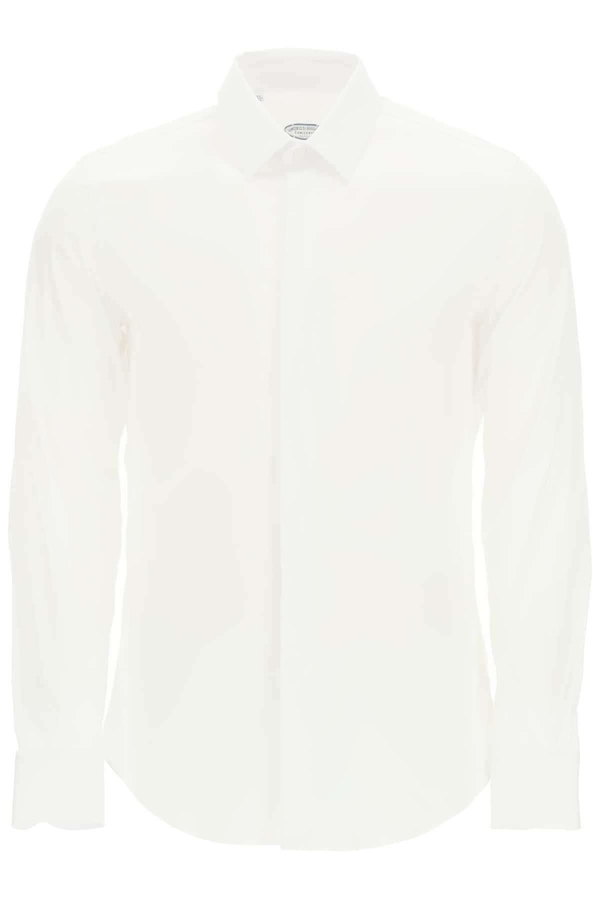 VINCENZO DI RUGGIERO CLASSIC TAILORED SHIRT 42 White Cotton