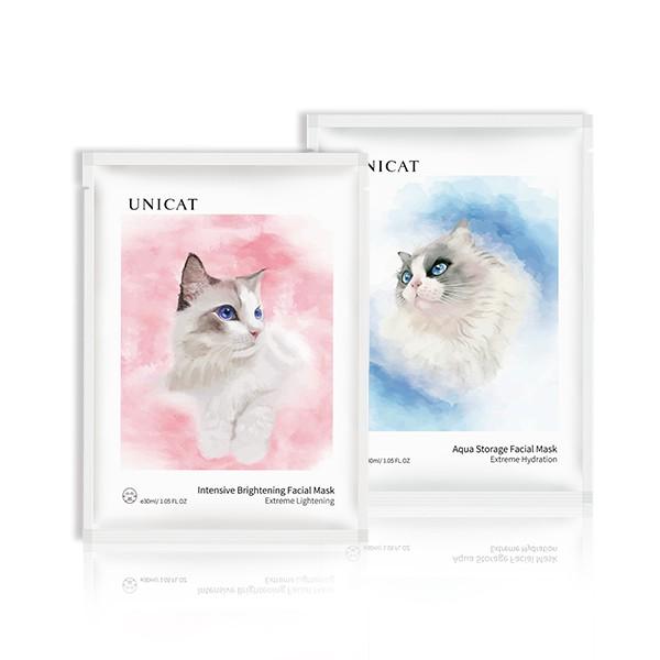 台灣現貨 當天出貨 UNICAT變臉貓 貓咪超導水潤保濕 瑩潤亮膚奶皮面膜(2款任選)