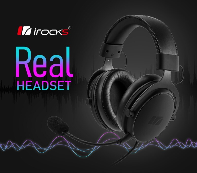 i-Rocks 艾芮克 A36 Real 有線電競耳機麥克風 [富廉網]