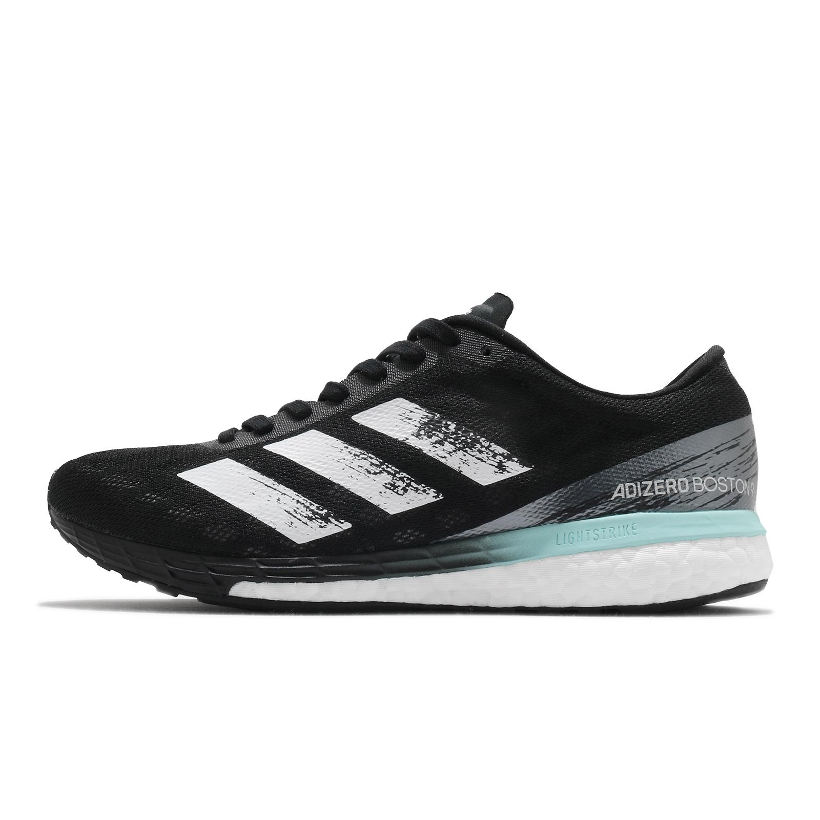 adidas 慢跑鞋 Adizero Boston 9 W 黑 白 輕量 速度型 女鞋 愛迪達 【ACS】 FY0342