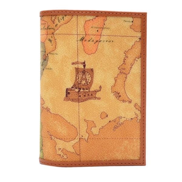 【Alviero Martini 義大利地圖包】護照夾-地圖黃