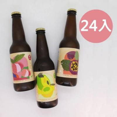 picky digger嚴選 格外農品 台灣真水果氣泡麥汁箱 330mlX24入(檸檬口味 )