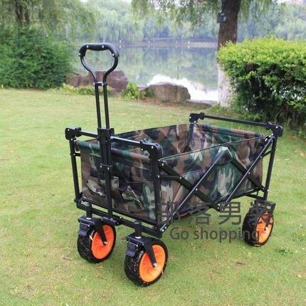 營地車 戶外釣魚野餐露營營地車攝影購物買菜遛娃折疊手推車便攜拉桿拖車T
