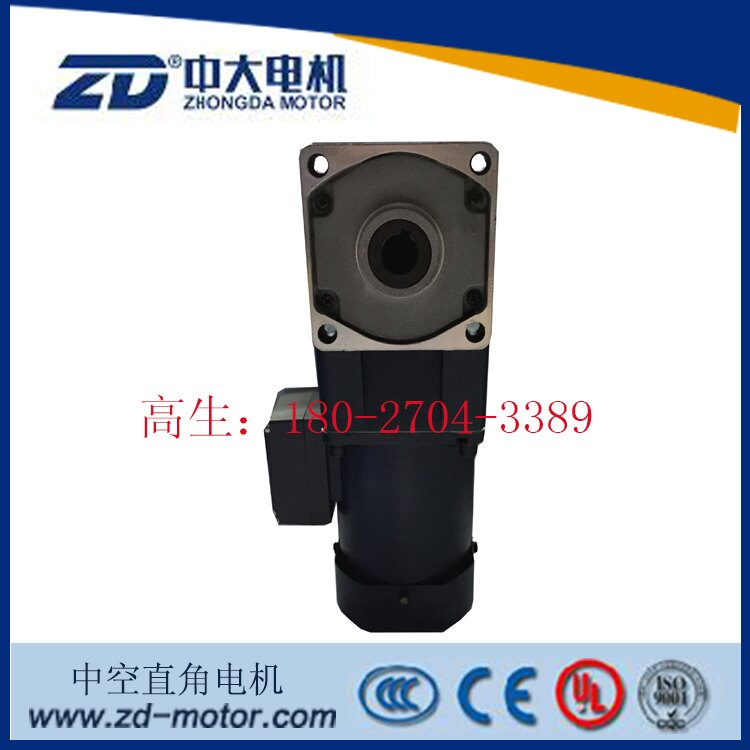 ZD中大60W中空直角馬達5IK60GU-S3FT/5GU9RC直角型軸齒輪減速電機1入