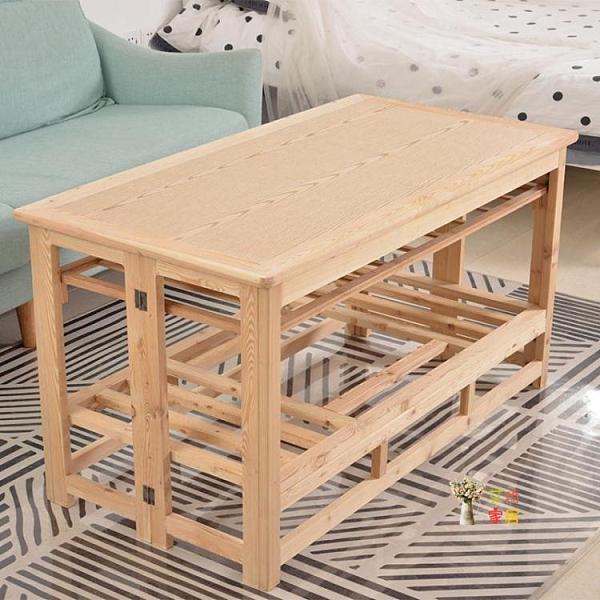 烤火桌 1.2米烤火桌子客廳長方形實木桌折疊簡約桌多功能烤火架取暖桌T