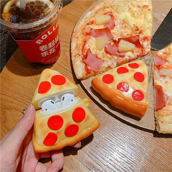 Airpods Pro 專用 1/2代 台灣發貨 [ 超逼真 Pizza ] 藍芽耳機保護套 蘋果無線耳機保護